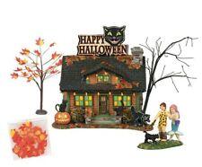Dept 56 Sv Halloween Black Cat Flat Boxed Set of 4 #6000661 Brand New