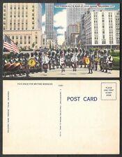 Old Oklahoma City Postcard - Kiltie Band, Bagpipers