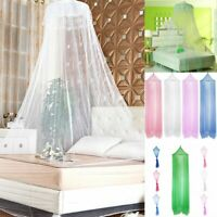 Round Elegant Lace Protect Mosquito Netting Mesh Canopy Princess Dome Bed Net US