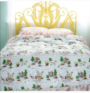 Anthropologie Lazybones Lazyville Horse And Carriage Duvet Twin Bed