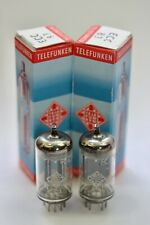 "NOS 1962 TELEFUNKEN ECC83 12AX7 ""TROPHY-QUALITY"" MATCHED PAIR SMOOTH-PLATE TUBES"