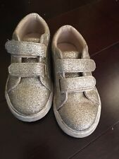 The Childrens Place Glitter Gold Sneakers Toddler Girls Size 8