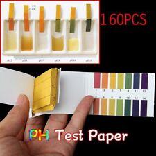 New Universal 160 Full Range 1-14 pH Test Paper Strips Litmus Testing Kit US