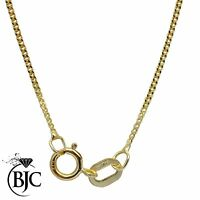 BJC® 9ct Yellow Gold Microcurb Curb Hanging Pendant Chain Necklace Necklaces