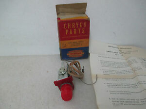 Mopar NOS 1953-54 Ply Dodge DeSoto Chry Imp Hand Brake Signal Lamp PKG 1511492