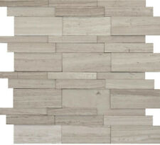 Marble Cream Honed 12.01in. x 12.05in. x 12mm Limestone Mesh-Mounted Mosaic Tile