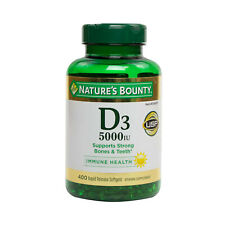 Nature's Bounty Vitamin D-3 5000 IU 300 Softgels, FRESH, Made In USA