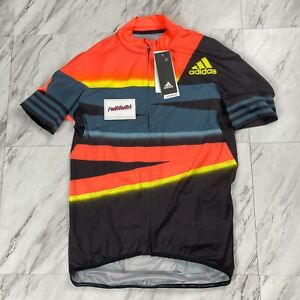 Adidas Adistar Cycling Men's Size Large Form Fitting Jersey Solar Red FJ6573