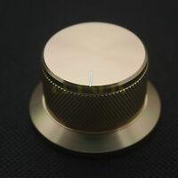 44*25mm Solid Aluminum Knob For Hifi Audio AMP Volume Potentiometer 6mm Hole 1PC