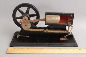 Antique circa-1900 Cut-A-Way Steam Engine Mechanical Piston Teaching Model, NR
