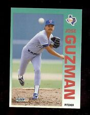 1992 Fleer WrongBacks Error - JOSE GUZMAN on front - LLOYD MOSEBY on back