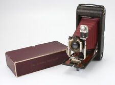 KODAK NO. 3A FOLDING POCKET, BURGUNDY BELLOWS, BOXED/cks/193370