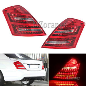 Pair LED Tail Rear Light Brake Lamps for Mercedes Benz S550 S400 W221 2007-2012