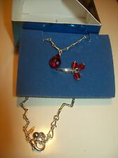 Ring Set Red New Avon Anklet & Toe