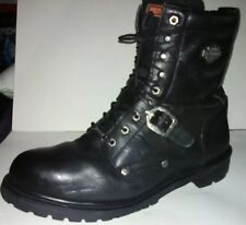Harley Davidson D91003 Faded Glory Motorcycle Black Men's Leather Boots Size 13