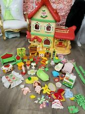 "�Strawberry Shortcake ""Berry Happy Home"" Dollhouse Vintage 1983 & Play Sets! �"