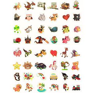 KinderTattoo Set Tattoos Leuchten Spielen verschiedene Motive