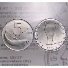 """5 Lire 1989 """"Timone Rovesciato"""" (Delfino) LOT1032"""
