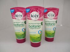 3 VEET BOTANIC INSPIRATIONS HAIR REMOVAL CREAM - SENSITIVE 6.78oz EACH  AP 4387