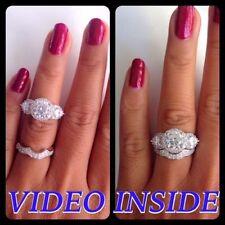 Anniversary White Gold Excellent Round Fine Diamond Rings