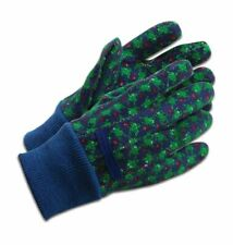 HandMaster Kids 3 Pairs of All Purpose Canvas Blue & Green Frog Gloves Age 3-7