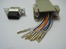 RJ45 female to DB9 RS232 female com port Modular Adapter EXTENDER connector jack