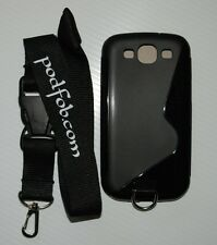 Samsung Galaxy SIII Case and Neckstrap Lanyard for the Samsung SIII by  PODFOB