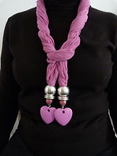 ATTRACTIVE PINK JEWELLED SCARF WITH HEART JEWEL IN PRESENTATION BOX  52055