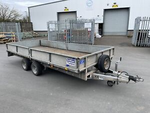 IFOR Williams Trailer 16FT FLAT BED C/W Sides 3500KGS