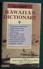 Handy Hawaiian Dictionary, HP Judd, MK Pukui, JFG Stokes (Paperback)