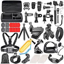 Outdoors Action Camera Accessories Kit for GoPro Hero HD 5 4 3+ 2 SJCAM Eken H9