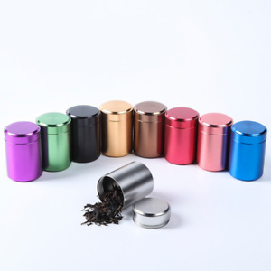Airtight Smell Proof Metal Herb Can Portable Travel Tea Stash Jar Container Tool