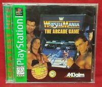 WrestleMania Arcade Game - Playstation 1 2 PS1 PS2 Game Complete Tested Working