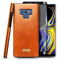 For Samsung Galaxy Note 9 Case Shockproof PU Leather Cover + Screen Protector