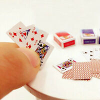 Miniature Poker Mini 1:12 Dollhouse Playing Cards Cute Doll House Decors Hot