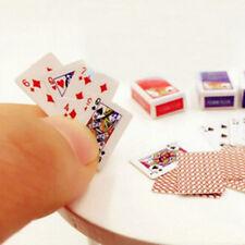 1set Miniature Poker Mini 1:12 Dollhouse Playing Cards Doll House Mini Poker