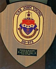 973 DD John Young  2002  Plaque  US Navy FREE Shipping