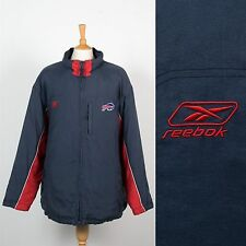 VINTAGE 90'S 00'S USA BUFFALO BILLS COAT JACKET WARM QUILTED PADDED NFL XL