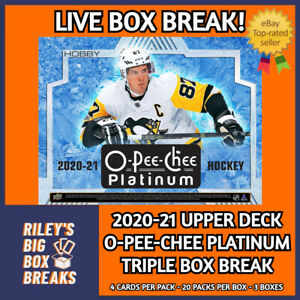2020-21 UPPER DECK OPC PLATINUM (x3) TRIPLE BOX BREAK #168 - PICK YOUR OWN TEAMS