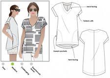 Free UK P/&P Style Arc Ladies Sewing Pattern Ethel Top FP MLTW016S-M