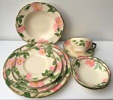 USA MADE 9 PIECE DINNERWARE Franciscan Earthenware DESERT ROSE  FREE SHIPPING