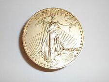 Vintage Bulova Twenty Dollars Walking Liberty Gold Coin Stack Desk  Alarm Clock