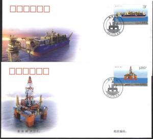 Mailed FDC-s Ship, Platform 2013  from China   avdpz