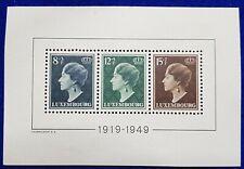 LUXEMBOURG 1949 CHARLOTTE MNH MINI SHEET MS SG524a
