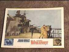 VALIANT 1962 LOBBY CARD #4  JOHN MILLS NAVAL MILITARY