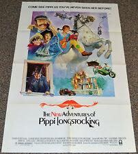 NEW ADVENTURES OF PIPPI LONGSTOCKING 1988 ORIGINAL MOVIE POSTER! KID'S FANTASY!