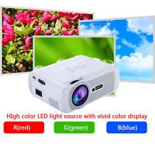 1000Lumens 1080P Multimedia Portable HD LED Projector Haus Theater Heimkino Weiß