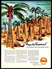 1943 WWII SHELL Research substitute for palm oil AD
