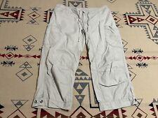 "New listing Women's Size 8 patagonia beige capri pants nylon unique hiking climbing 21"" D0"