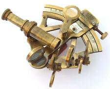 SOLID BRASS MARINE SEXTANT ASTROLABE ANTIQUE REPRODUCTION MARITIME NAUTICAL SHIP